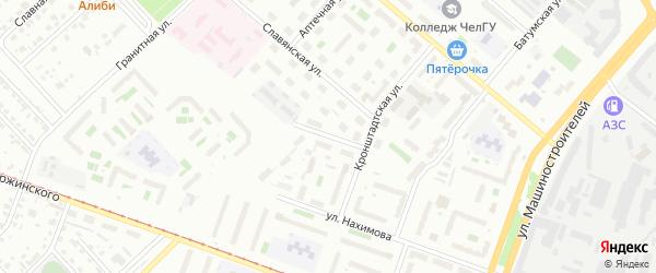 Якутская улица на карте Челябинска с номерами домов