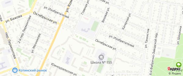 Октябрьская улица на карте Красногорского поселка с номерами домов