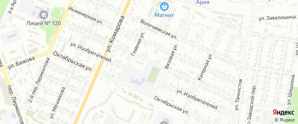Новозаводская улица на карте Челябинска с номерами домов