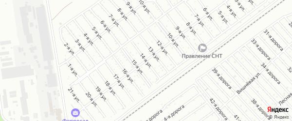 Сад СНТ Авиатор-2 улица 14 на карте Челябинска с номерами домов