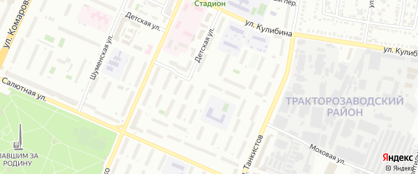 Территория ГСК 8 Автомобилист участок Кр.Урала на карте Челябинска с номерами домов