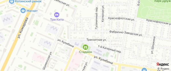 Входной переулок на карте Челябинска с номерами домов