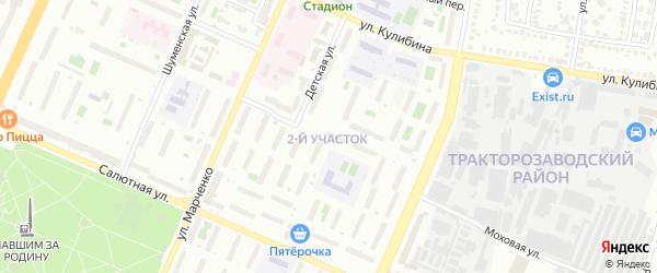 ГСК Энергетик участок 6 по ул Российская территория на карте Челябинска с номерами домов