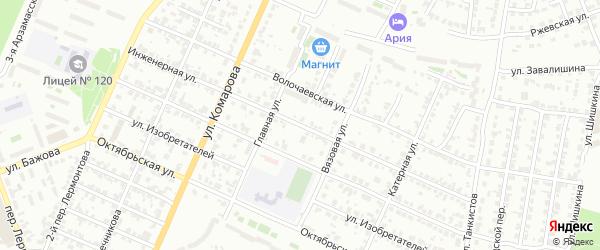 Инженерная улица на карте Челябинска с номерами домов