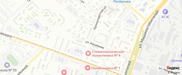 Кронштадтская улица на карте Челябинска с номерами домов