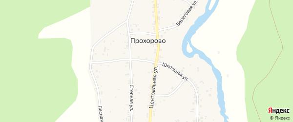 Школьная улица на карте деревни Прохорово с номерами домов