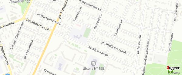 Улица Изобретателей на карте Челябинска с номерами домов