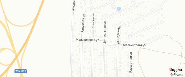 Тенистая улица на карте Копейска с номерами домов