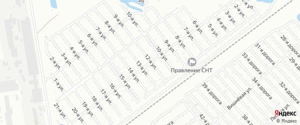 Сад Любитель-1 улица 12 на карте Челябинска с номерами домов