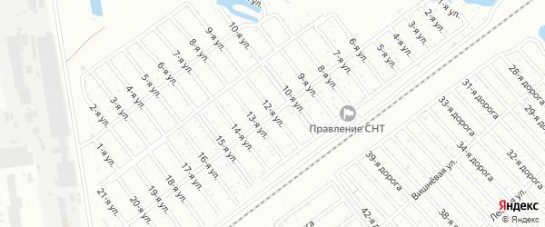 Сад СНТ Авиатор-2 улица 12 на карте Челябинска с номерами домов