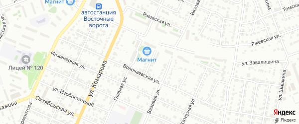Слесарный переулок на карте Челябинска с номерами домов