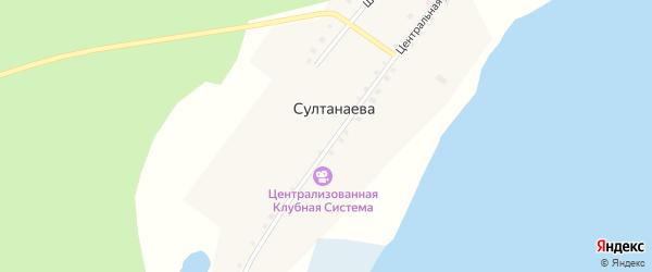 Центральная улица на карте деревни Султанаева с номерами домов