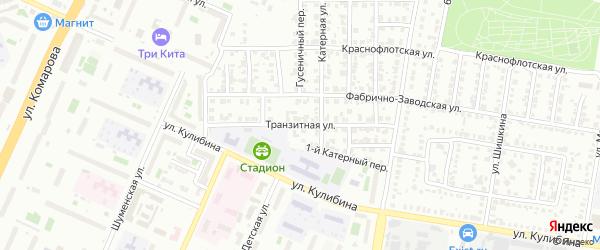 Транзитная улица на карте Челябинска с номерами домов