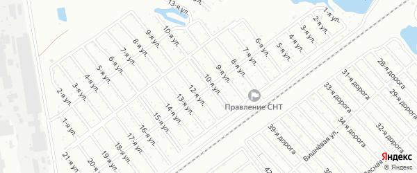 Сад СНТ Авиатор-2 улица 11 на карте Челябинска с номерами домов