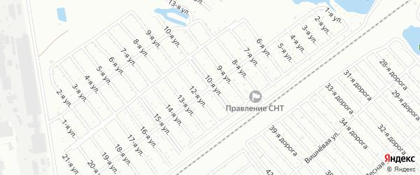 Сад Любитель-1 улица 11 на карте Челябинска с номерами домов