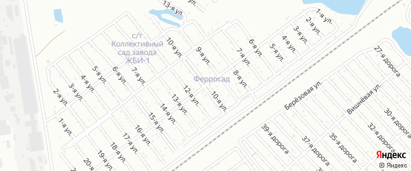 Сад СНТ Авиатор-2 улица 10 на карте Челябинска с номерами домов