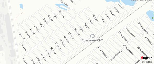 Сад СНТ Надежда улица 10 на карте Челябинска с номерами домов