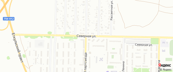 Улица Северная (бывший РП Октябрьский) на карте Копейска с номерами домов