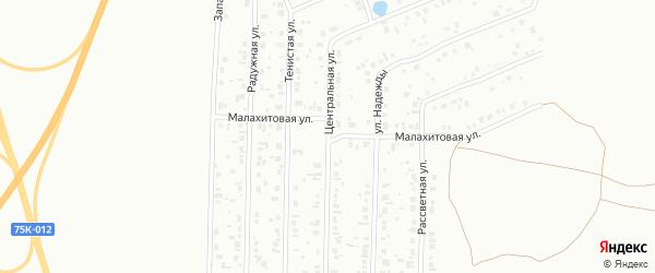 Центральная улица на карте Копейска с номерами домов
