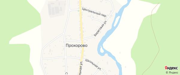 Береговая улица на карте деревни Прохорово с номерами домов