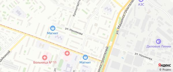 Батумская улица на карте Челябинска с номерами домов