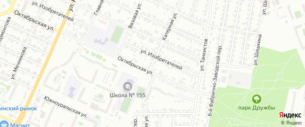 Катерная улица на карте Челябинска с номерами домов