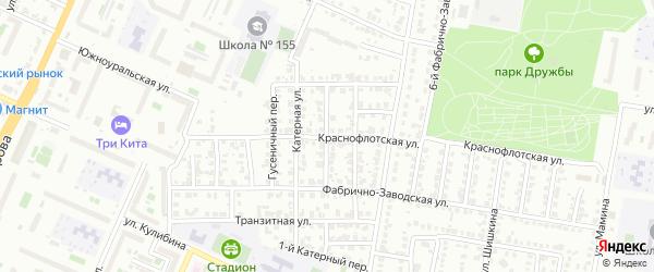 Поршневой переулок на карте Челябинска с номерами домов