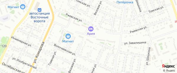 Улица Завалишина на карте Челябинска с номерами домов