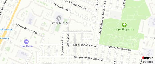 Красносельская улица на карте Челябинска с номерами домов