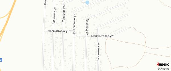 Малахитовая улица на карте Копейска с номерами домов