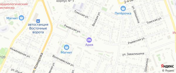 Вязовая улица на карте Челябинска с номерами домов