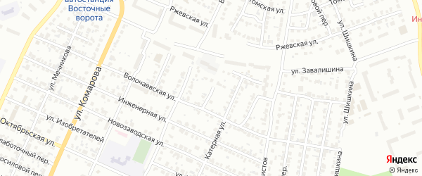 Конармейский переулок на карте Челябинска с номерами домов