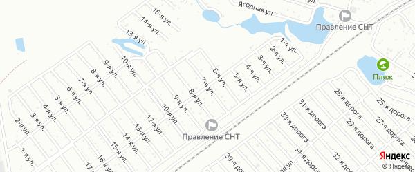 Сад Любитель-1 улица 7 на карте Челябинска с номерами домов