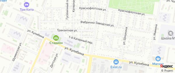 Катерный 2-й переулок на карте Челябинска с номерами домов