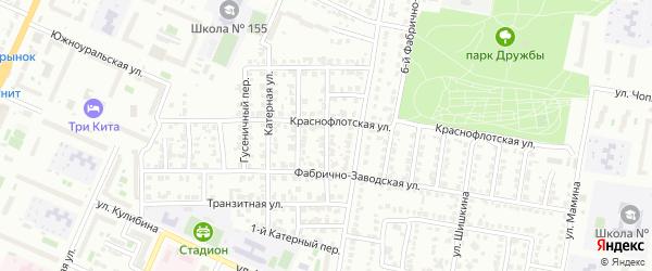 Магистральный переулок на карте Челябинска с номерами домов