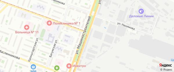 Улица Машиностроителей на карте Челябинска с номерами домов