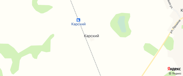 Карта Карского поселка в Челябинской области с улицами и номерами домов