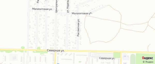 Рассветная улица на карте Копейска с номерами домов