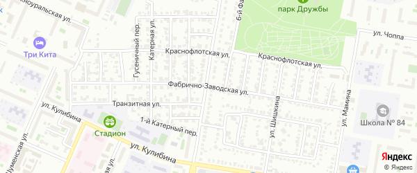 Фабрично-заводская улица на карте Челябинска с номерами домов