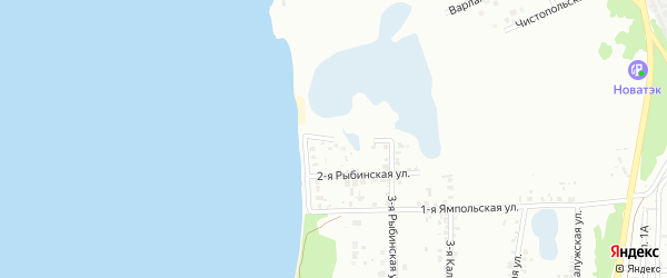 Рыбинская 1-я улица на карте Челябинска с номерами домов