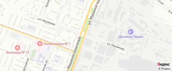Улица Нахимова на карте Челябинска с номерами домов