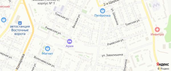 Ржевский 3-й переулок на карте Челябинска с номерами домов