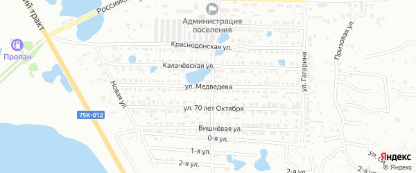 Улица Медведева на карте Копейска с номерами домов