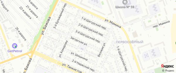 Шатурский 3-й переулок на карте Челябинска с номерами домов