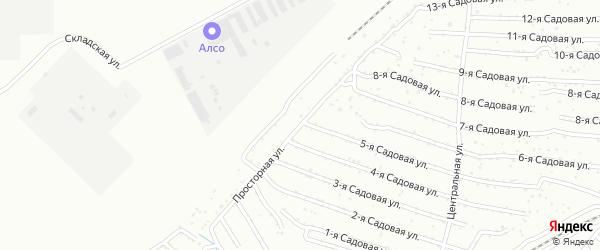 Хлебосад Просторная улица на карте Челябинска с номерами домов