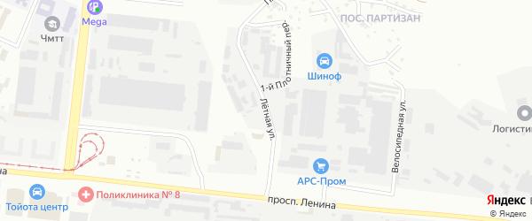 Летная улица на карте Челябинска с номерами домов