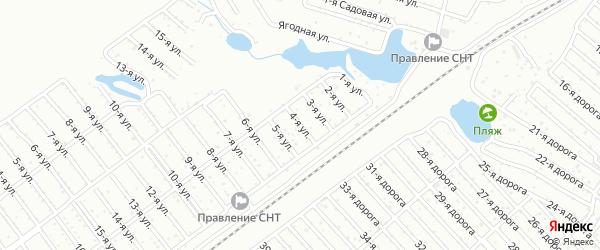 Сад СНТ Уралец улица 4 на карте Челябинска с номерами домов