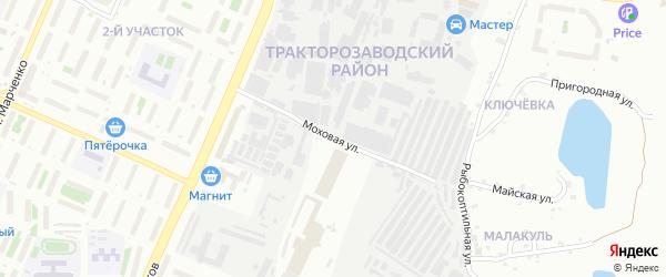 Моховая улица на карте Челябинска с номерами домов