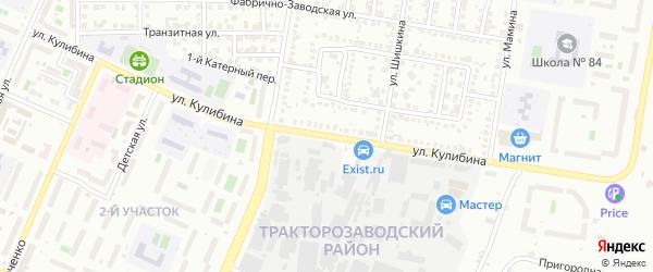 Улица Кулибина на карте Челябинска с номерами домов