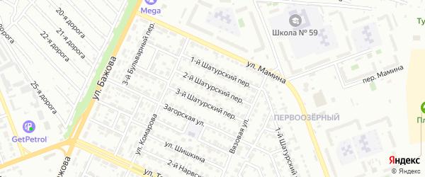 Шатурский 2-й переулок на карте Челябинска с номерами домов